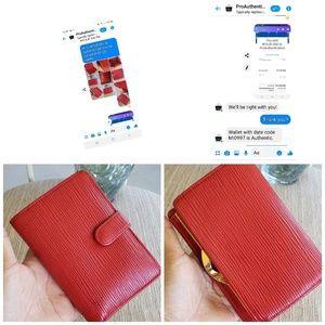 Louis Vuitton Bags - Louis vuitton epi kisslock wallet and key holder.